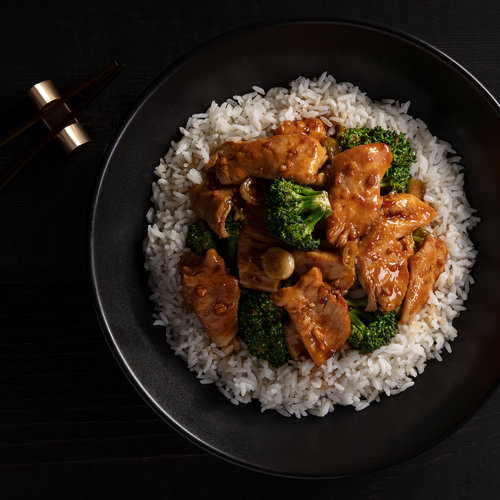 GF Ginger Chicken with Broccoli Bowl