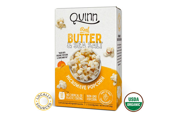 Organic Microwave Butter Popcorn ( 2 bags)